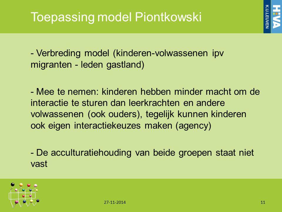 Toepassing model Piontkowski