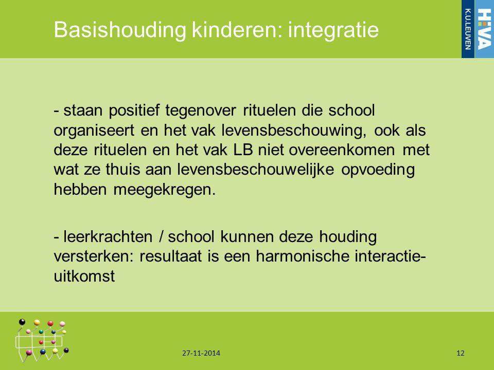 Basishouding kinderen: integratie