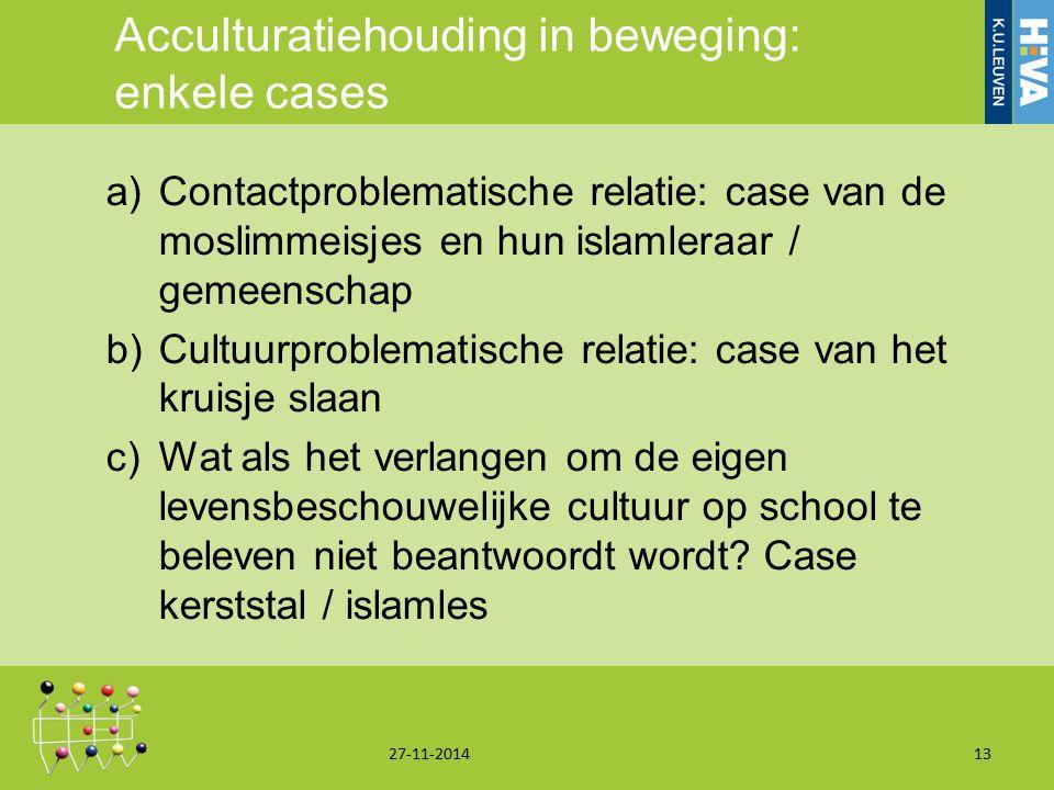 Acculturatiehouding in beweging: enkele cases