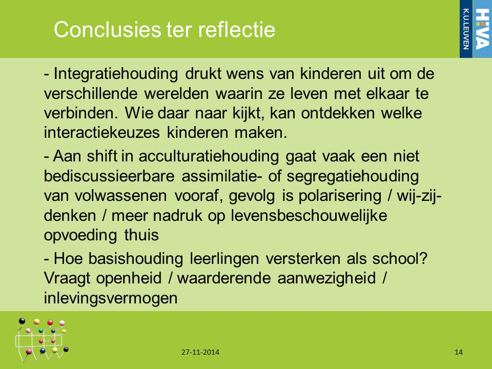 Conclusies ter reflectie