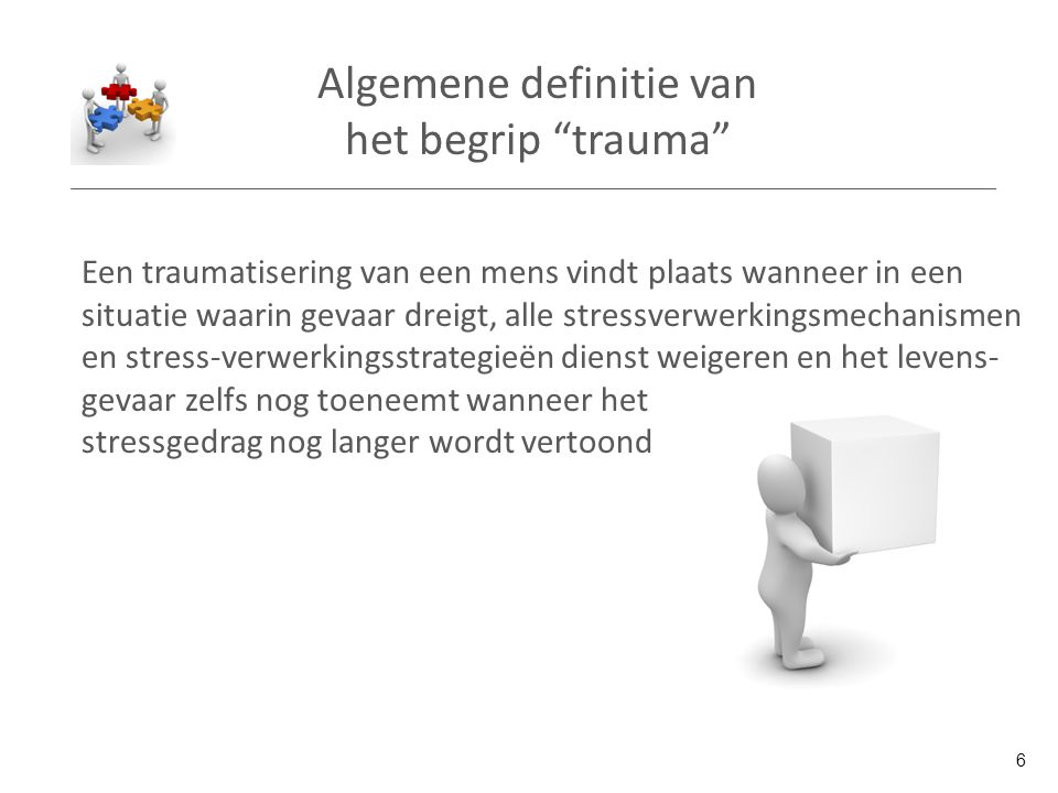 Algemene definitie van het begrip trauma