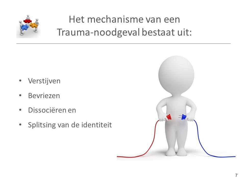 Het mechanisme van een Trauma-noodgeval bestaat uit: