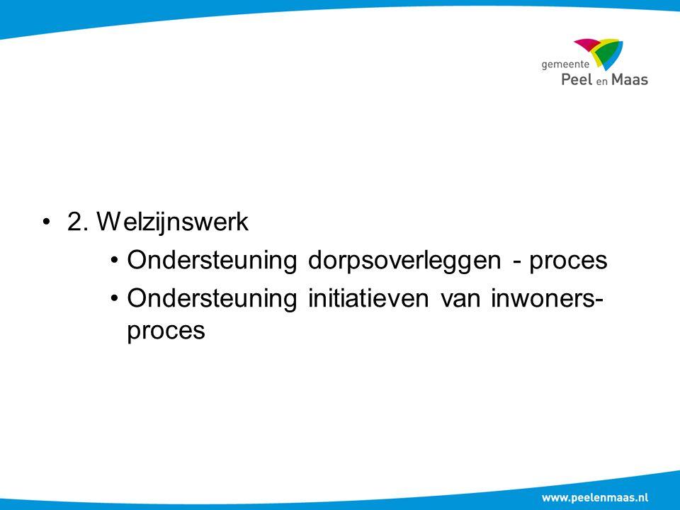 2. Welzijnswerk Ondersteuning dorpsoverleggen - proces.