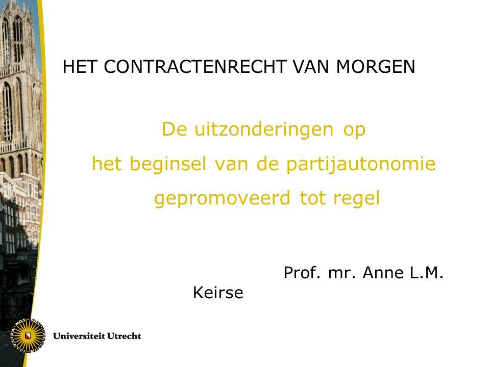 Het contractenrecht van morgen