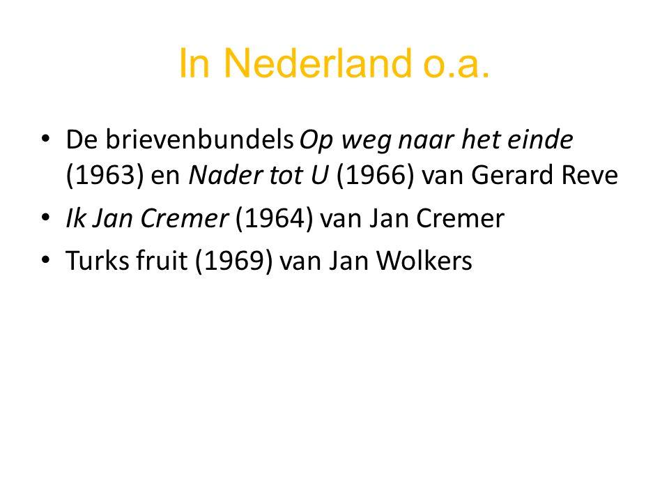 In Nederland o.a. De brievenbundels Op weg naar het einde (1963) en Nader tot U (1966) van Gerard Reve.