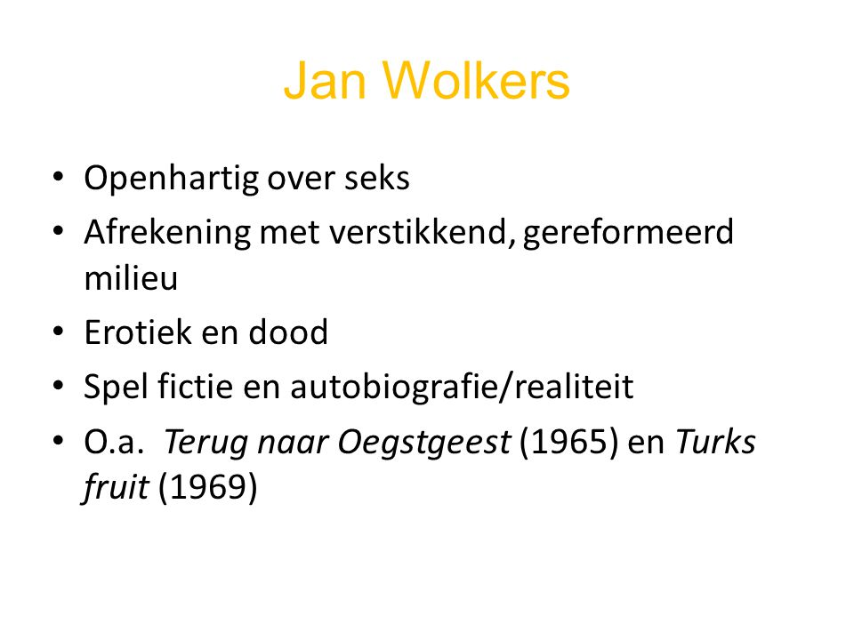 Jan Wolkers Openhartig over seks