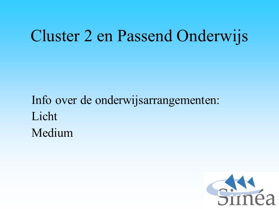 Cluster 2 en Passend Onderwijs