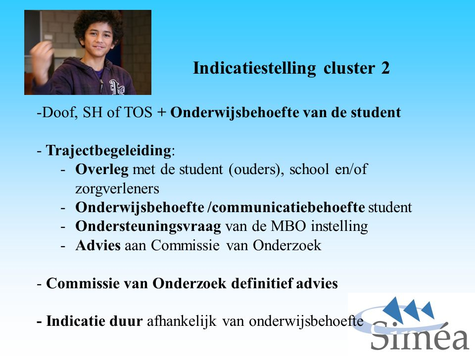 Indicatiestelling cluster 2