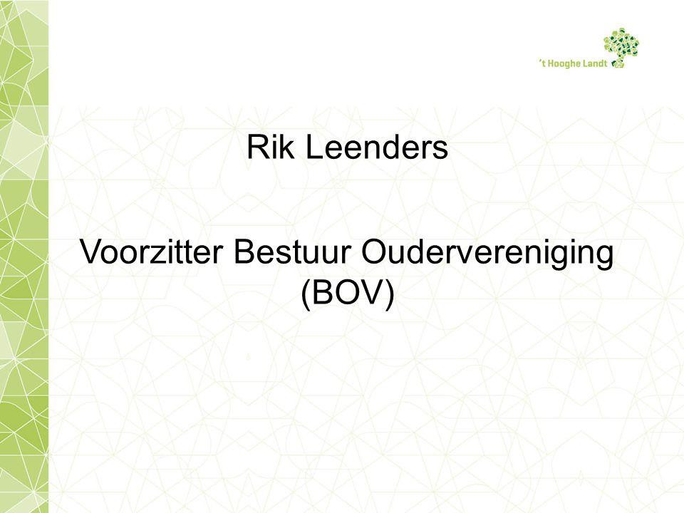Rik Leenders Voorzitter Bestuur Oudervereniging (BOV)