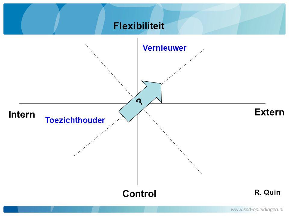 Flexibiliteit Extern Intern Control Vernieuwer Toezichthouder