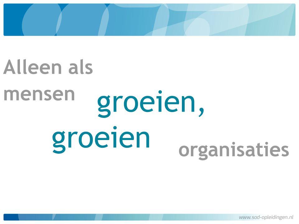 Alleen als mensen groeien, groeien organisaties