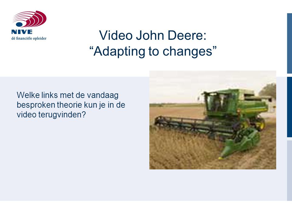 Video John Deere: Adapting to changes
