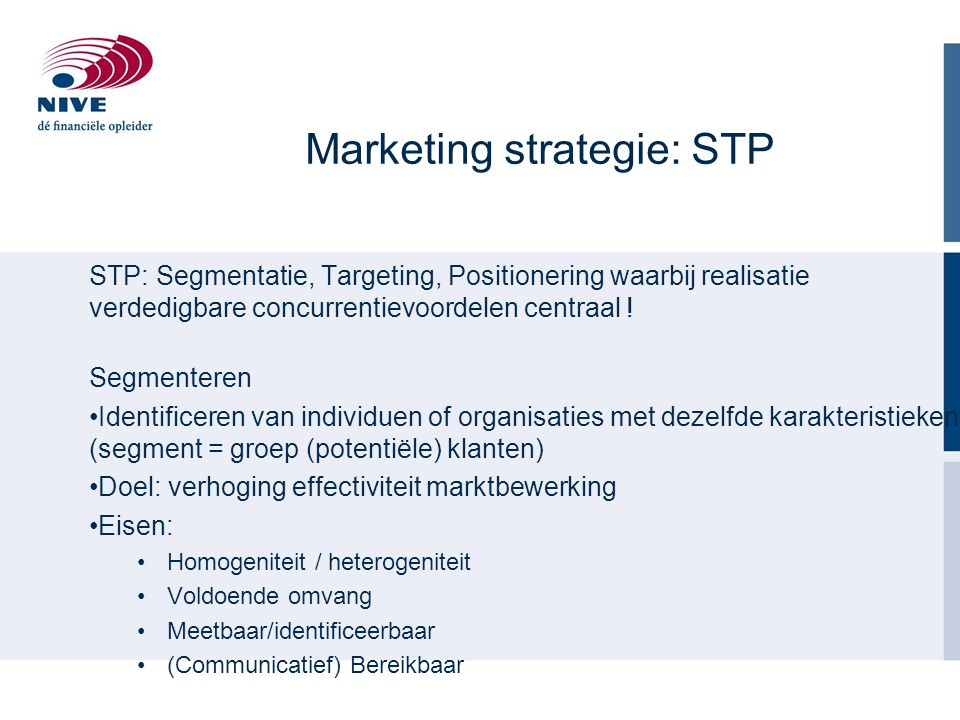 Marketing strategie: STP