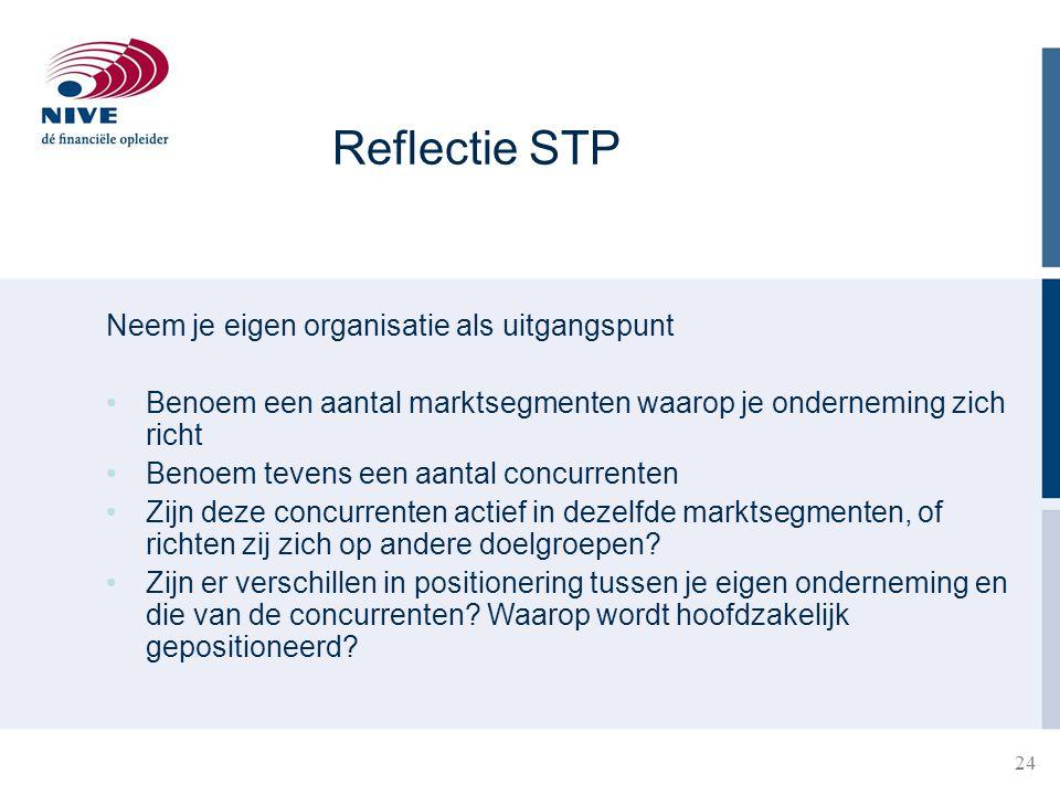 Reflectie STP Neem je eigen organisatie als uitgangspunt