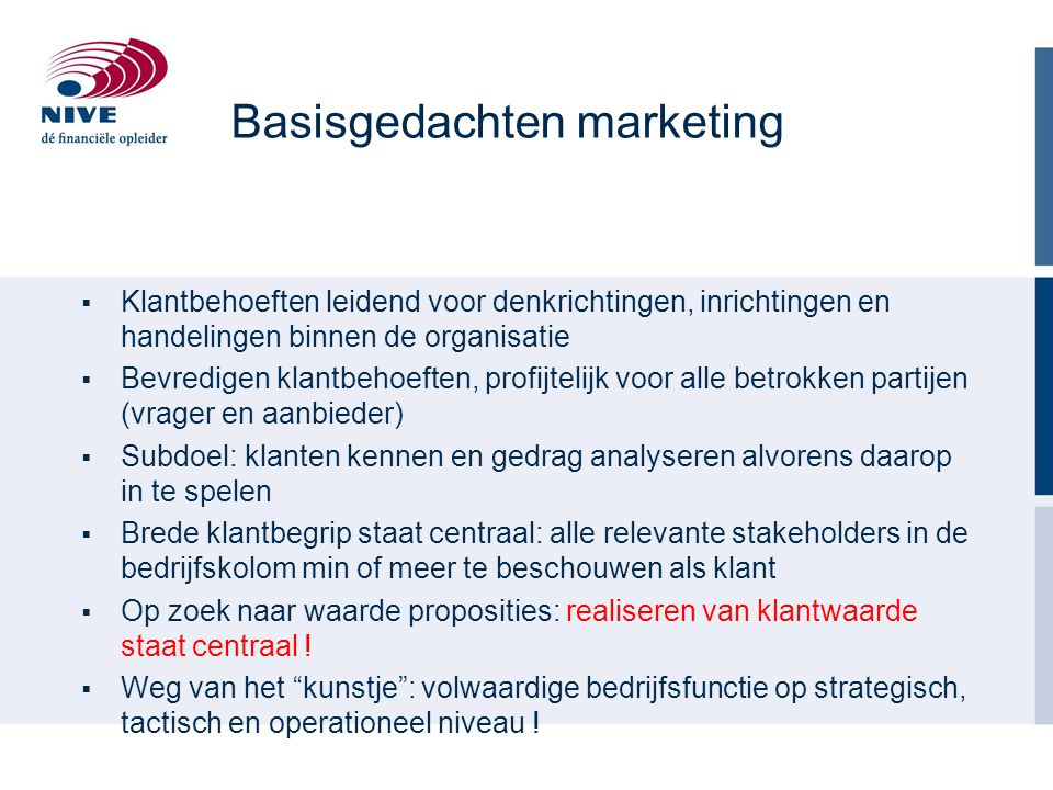 Basisgedachten marketing
