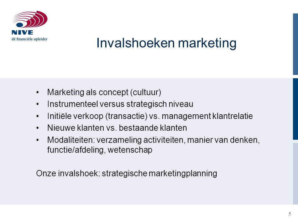 Invalshoeken marketing