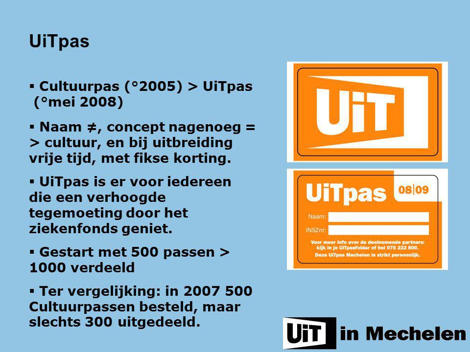 UiTpas Cultuurpas (°2005) > UiTpas (°mei 2008)