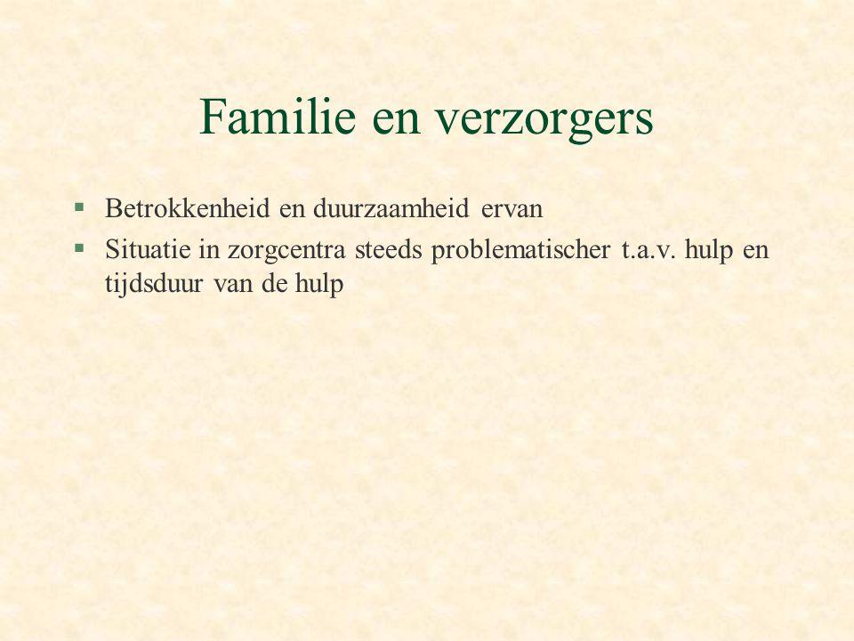 Familie en verzorgers Betrokkenheid en duurzaamheid ervan