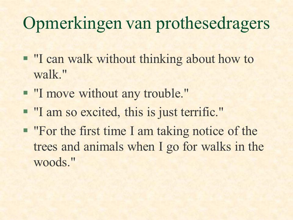 Opmerkingen van prothesedragers