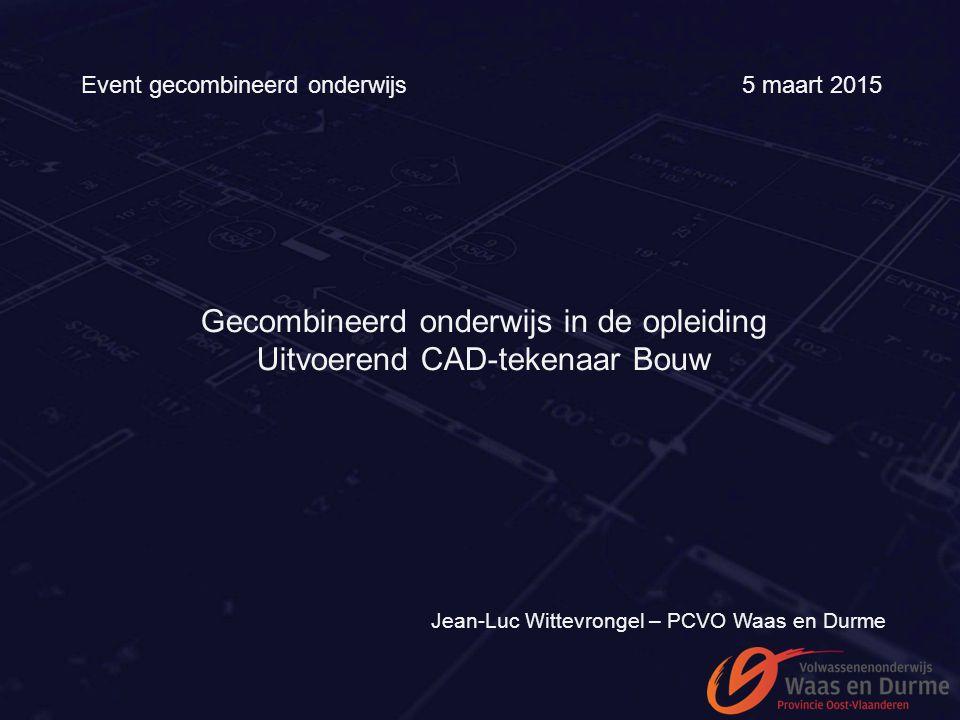 Gecombineerd onderwijs in de opleiding Uitvoerend CAD-tekenaar Bouw