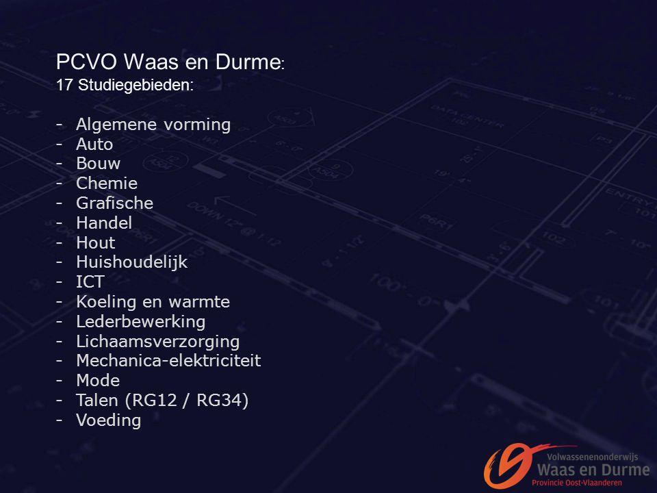 PCVO Waas en Durme: 17 Studiegebieden: Algemene vorming Auto Bouw