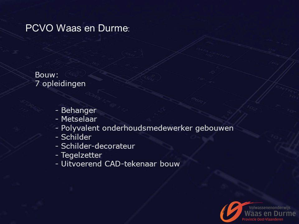 PCVO Waas en Durme: - Behanger - Metselaar Bouw: