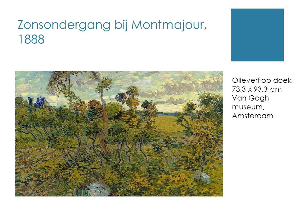 Zonsondergang bij Montmajour, 1888
