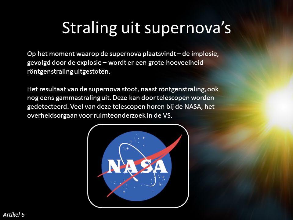 Straling uit supernova's