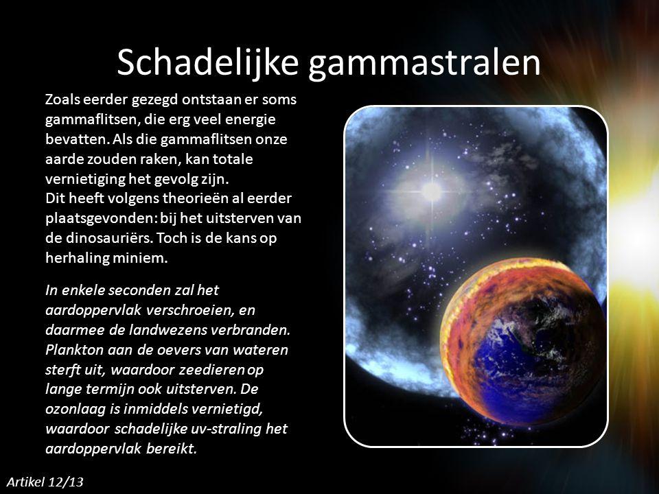 Schadelijke gammastralen