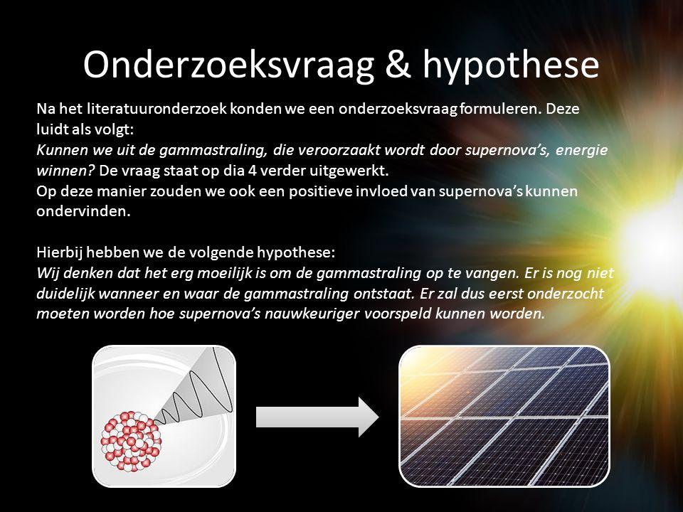Onderzoeksvraag & hypothese
