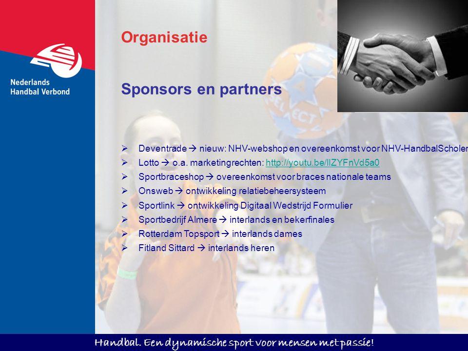 Organisatie Sponsors en partners