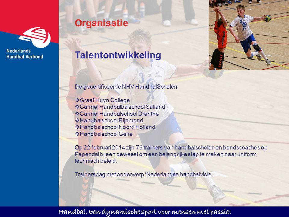 Organisatie Talentontwikkeling De gecertificeerde NHV HandbalScholen: