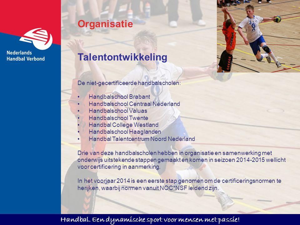 Organisatie Talentontwikkeling De niet-gecertificeerde handbalscholen: