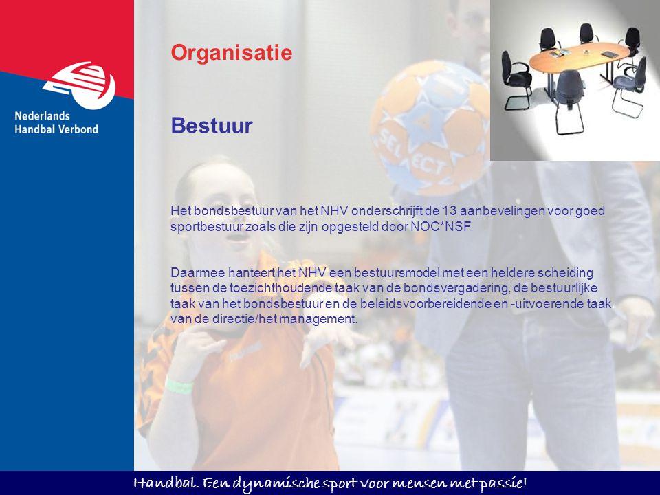 Organisatie Bestuur. Het bondsbestuur van het NHV onderschrijft de 13 aanbevelingen voor goed sportbestuur zoals die zijn opgesteld door NOC*NSF.