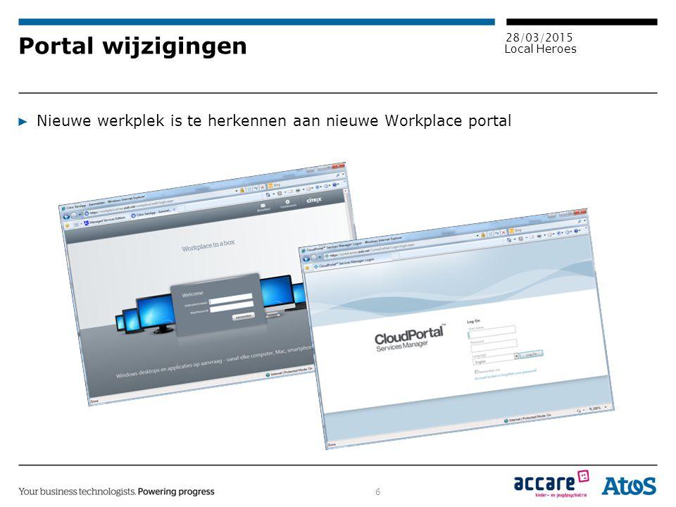 Portal wijzigingen Nieuwe werkplek is te herkennen aan nieuwe Workplace portal