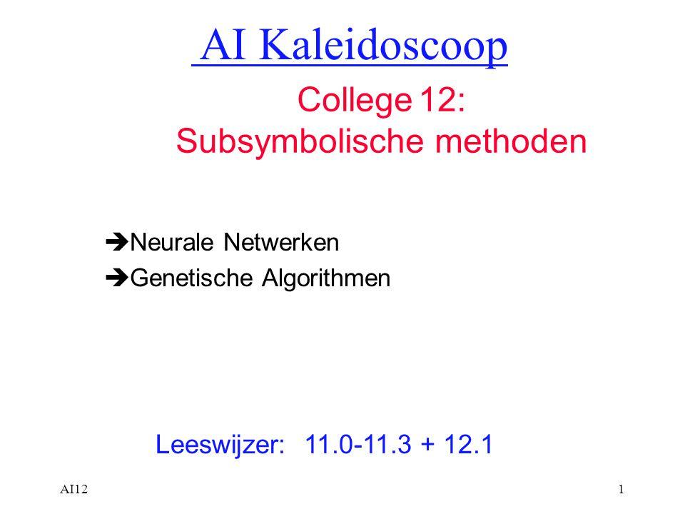 Neurale Netwerken Genetische Algorithmen