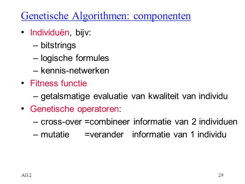 Genetische Algorithmen: componenten