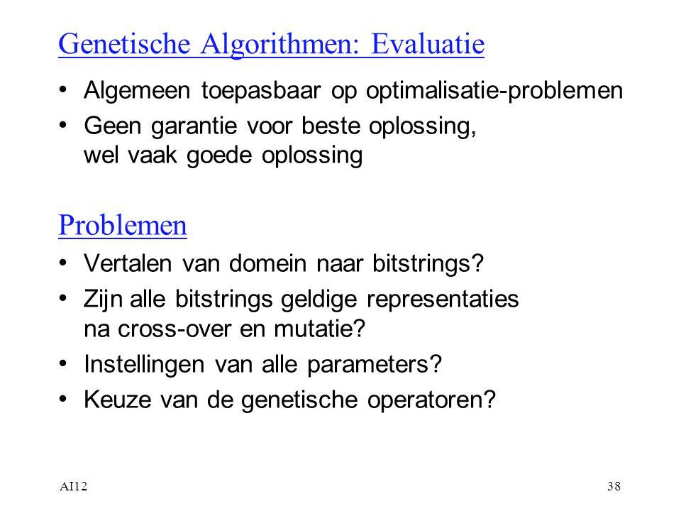Genetische Algorithmen: Evaluatie