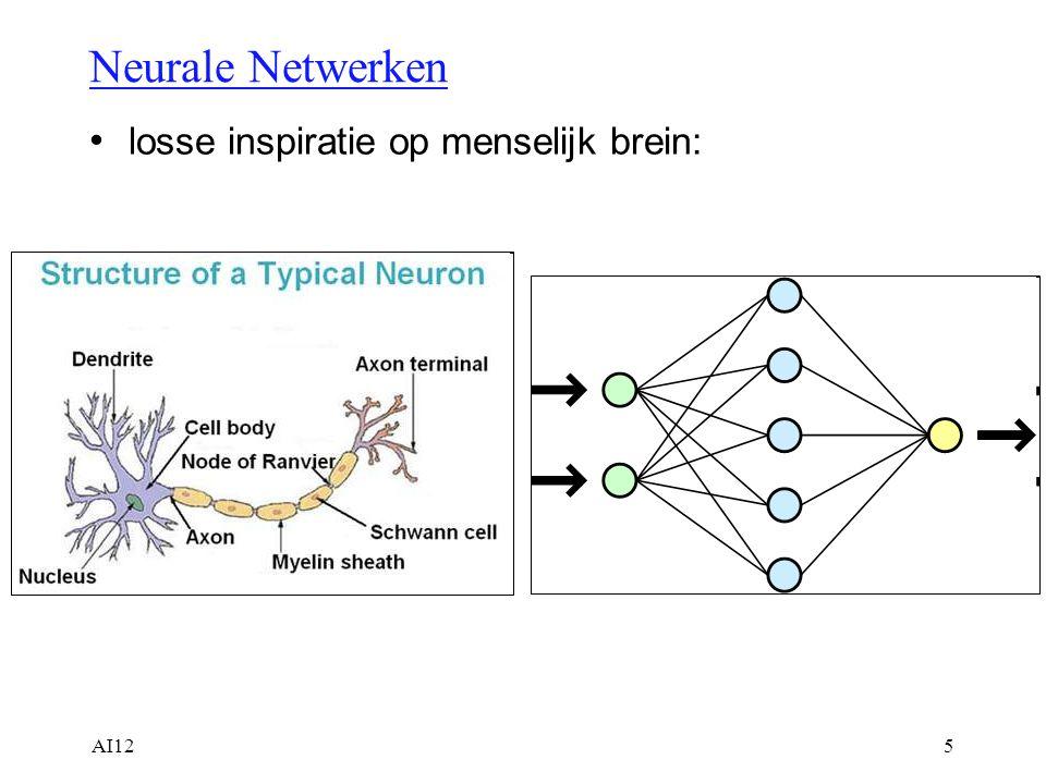 Neurale Netwerken losse inspiratie op menselijk brein: AI12