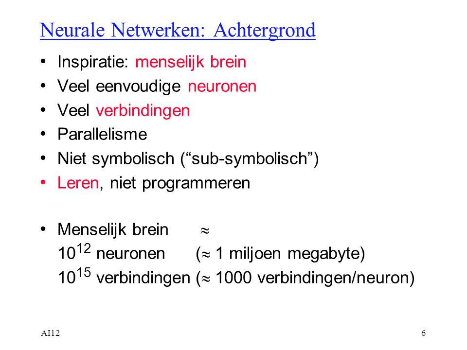 Neurale Netwerken: Achtergrond