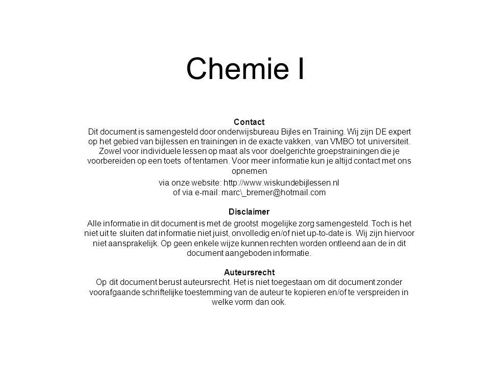 Chemie I
