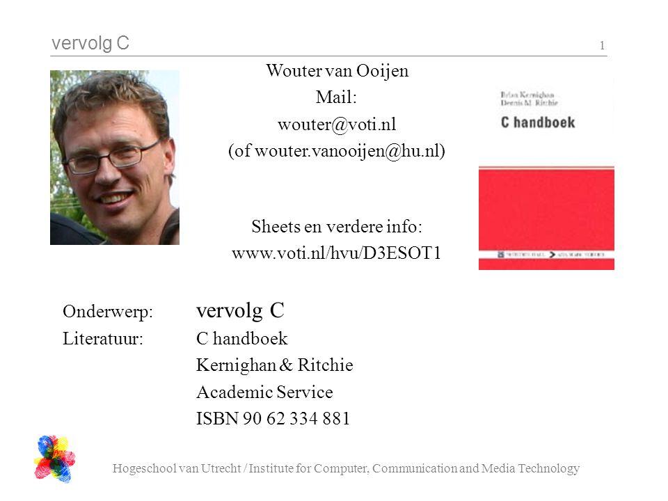 (of wouter.vanooijen@hu.nl)