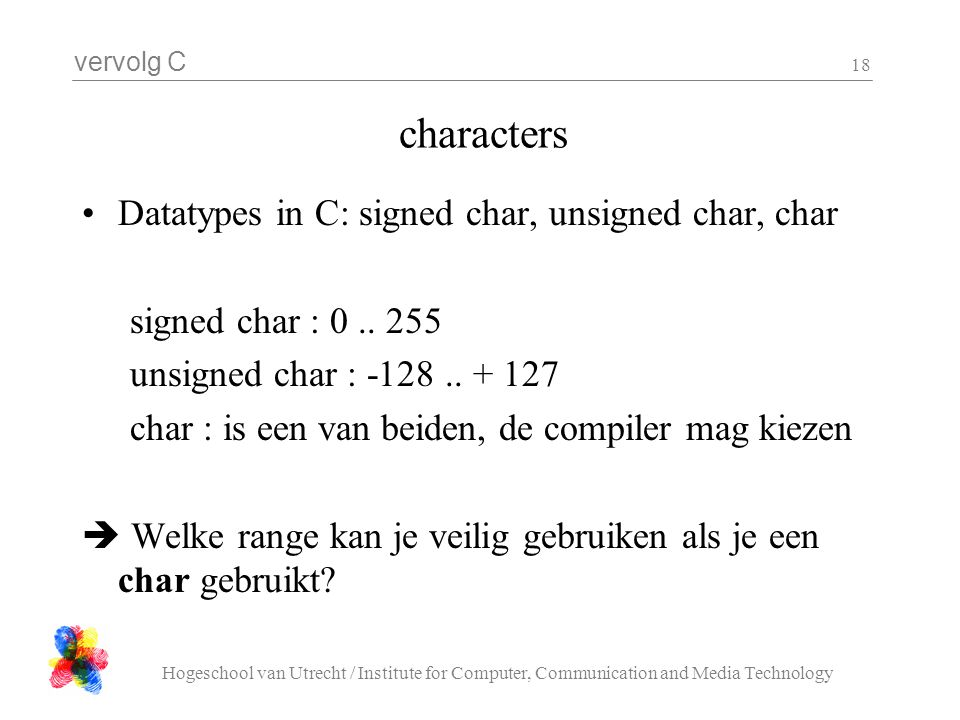 characters Datatypes in C: signed char, unsigned char, char