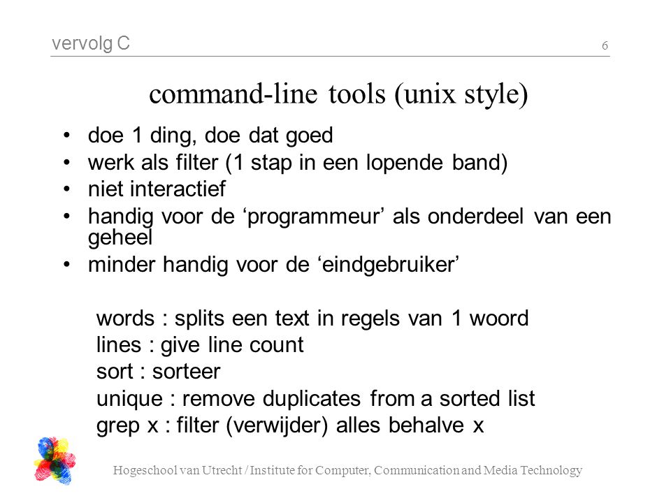 command-line tools (unix style)