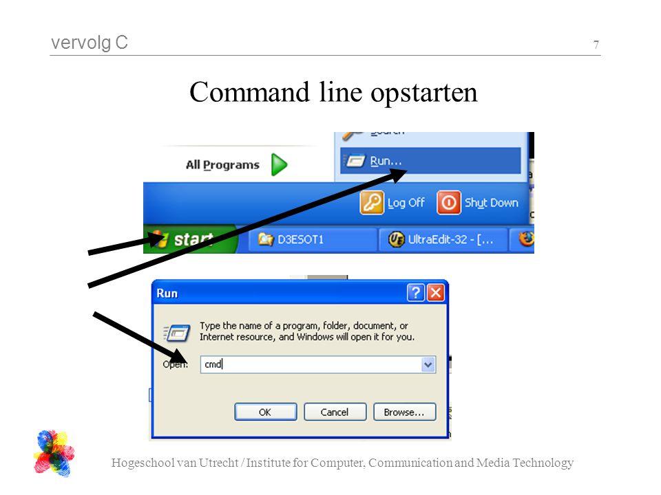 Command line opstarten