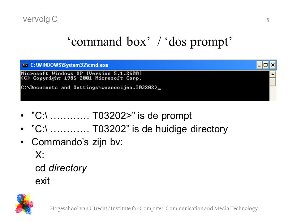 'command box' / 'dos prompt'