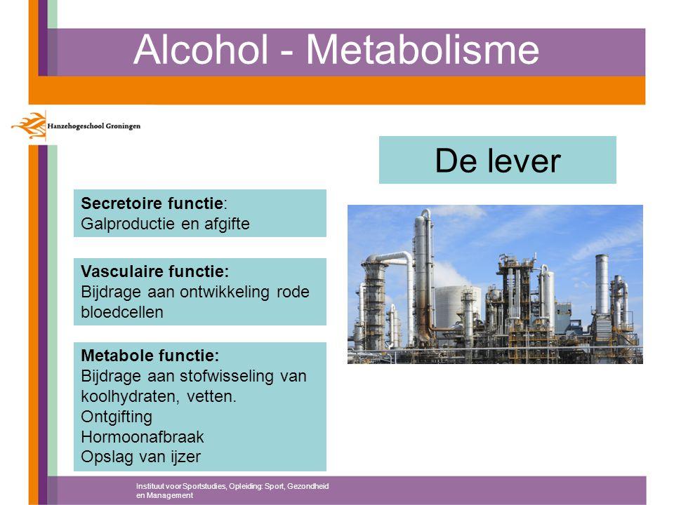 Alcohol - Metabolisme De lever Secretoire functie: