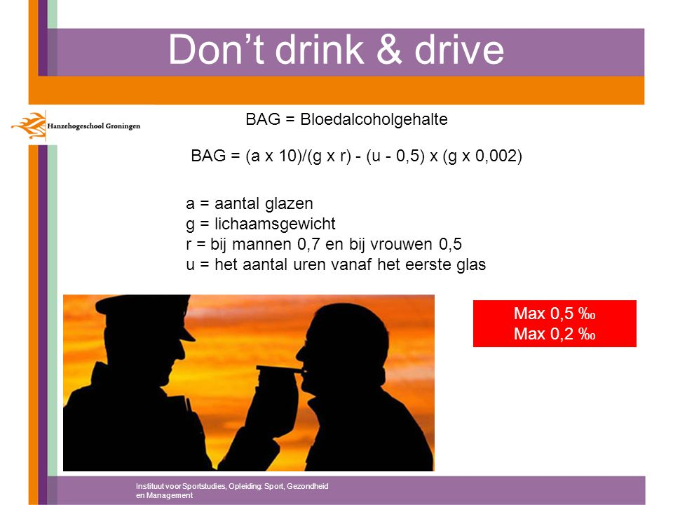 BAG = Bloedalcoholgehalte