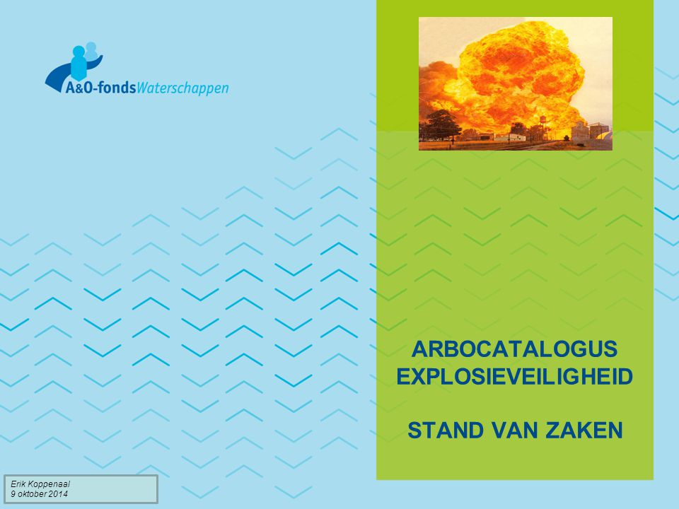 Arbocatalogus Explosieveiligheid Stand van zaken