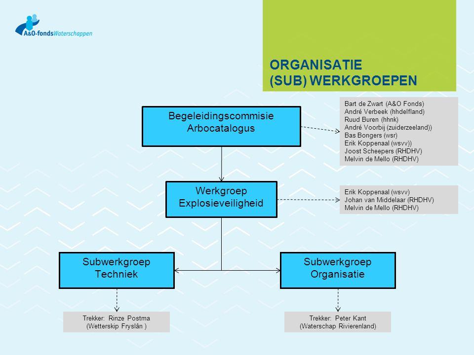 Organisatie (sub) werkgroepen